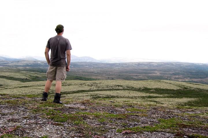 Vest og øst for Alvdal finner en åpne utsikter og tørt terreng