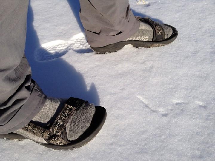 Fashion statement: Ekte nordmenn bruker ullsokker i sandalene.