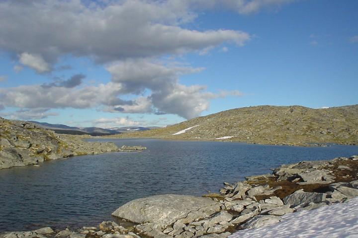 """Jeg ser for meg at Trollheimen kan by på både flotte toppturer og gode fiskevann. Ikke ulikt dette """"hemmelige"""" vannet med kilosørret i Sunndal-Dovrefjell nasjonalpark."""