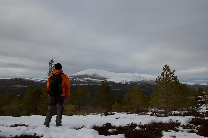 Utsikt. Så snart snøen er borte blir det sykkeltur til toppen av Skalten.