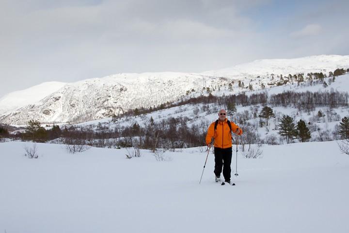 På årets første skitur.