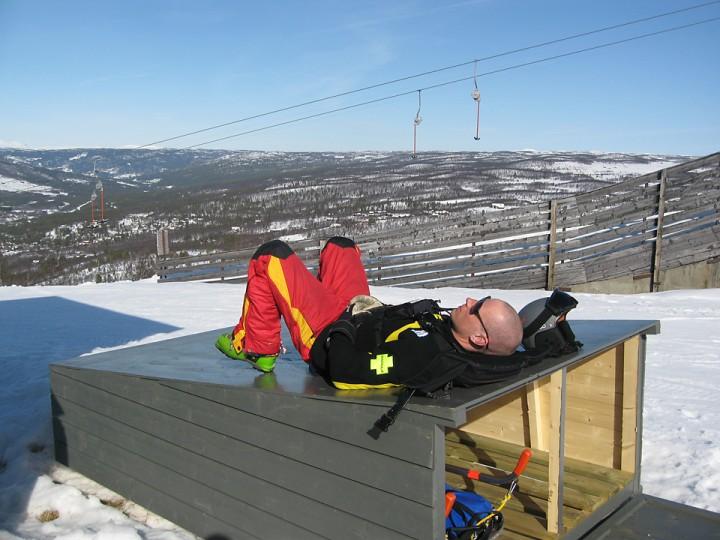 Markus Eriksson som jeg jobbet sammen med i Geilo skipatrulje, er nå driftsleder i et alpinanlegg med litt brattere bakker.
