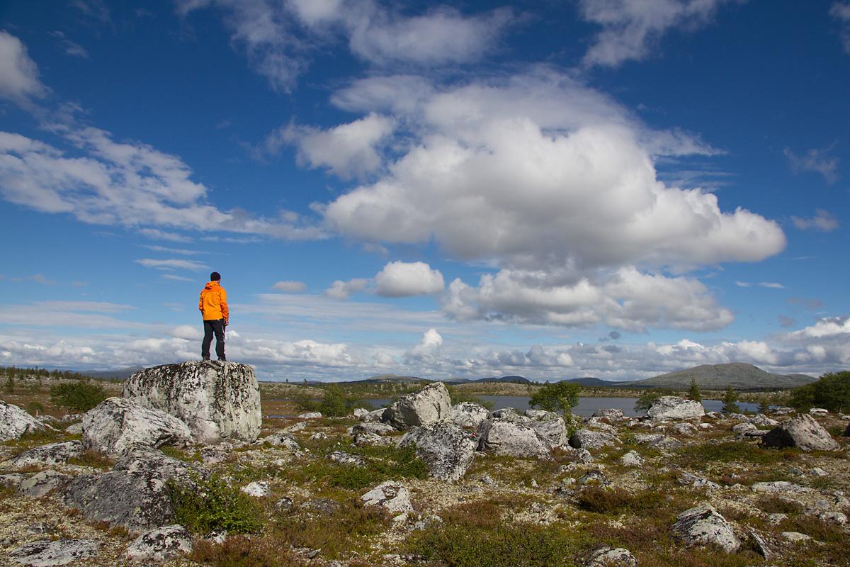 Oppe ved Røvolltjønna trenger en ikke anstrenge seg for å få god utsikt.
