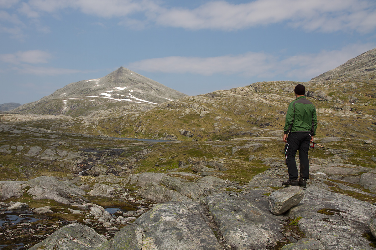 På oppdagelsesferd innover dalen fra Øksendalstjønnin mot Kleivhøa.