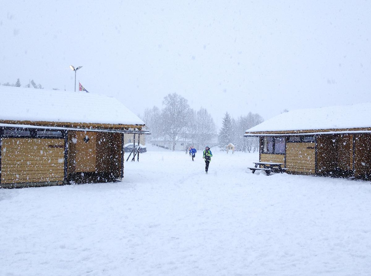 Snø er ingen hindring for å ha det moro