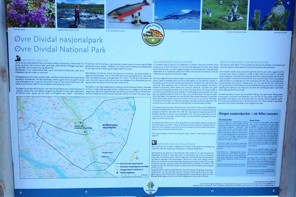 Turen starter i Øvre Dividal nasjonalpark