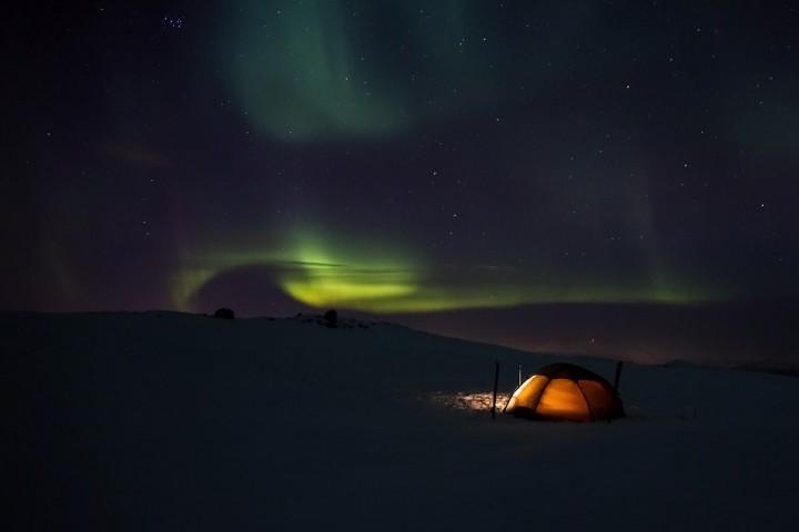Nordlysnatt på Mauken.