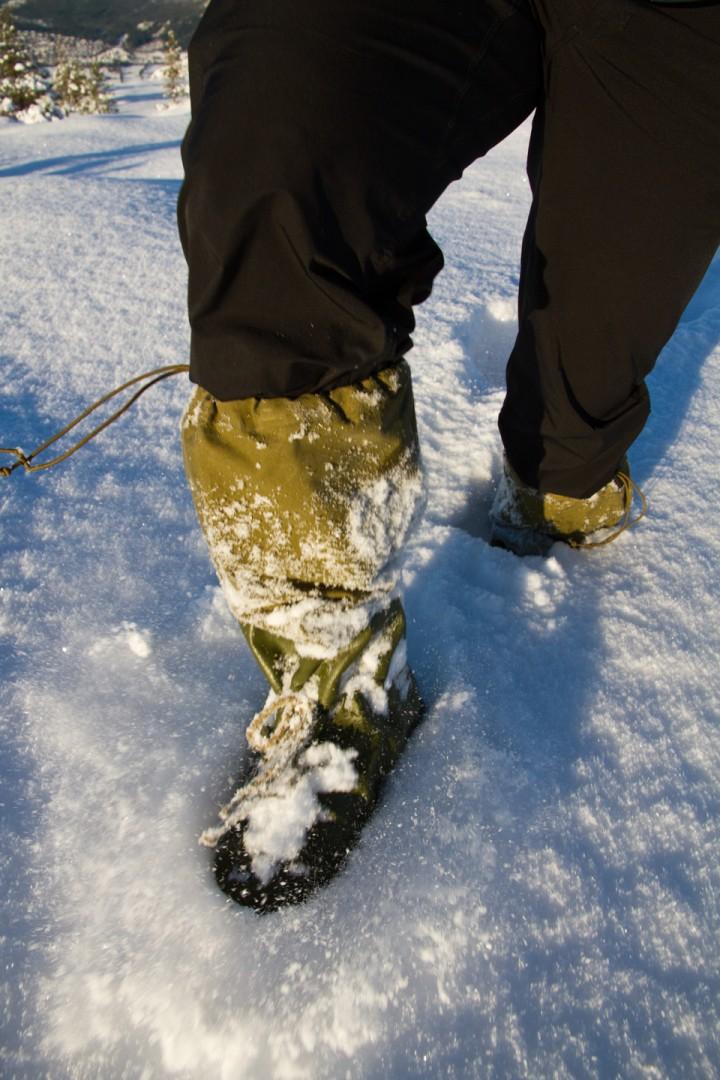 Forsvarets fotposer tåler at det er litt snø