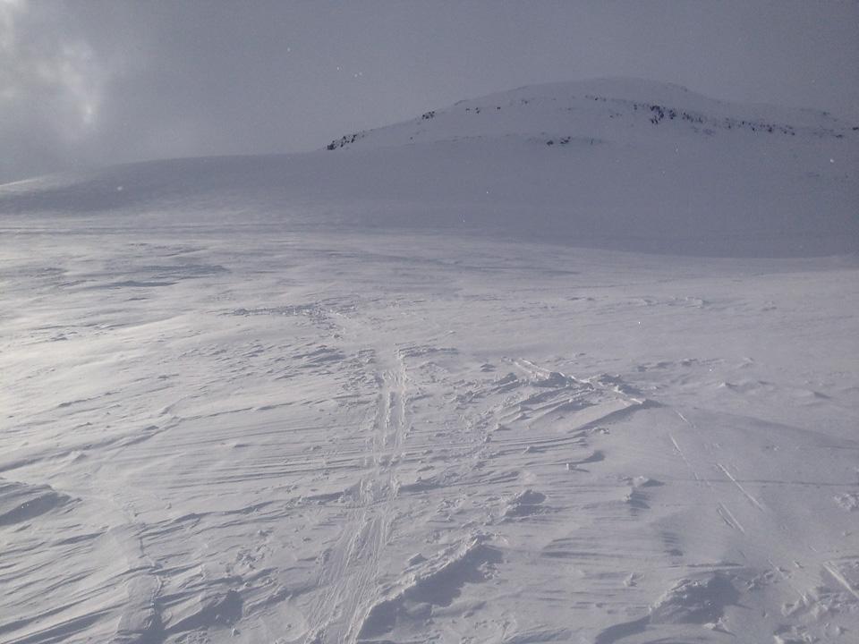 Over tregrensen forsvant løssnøen raskt i dag.