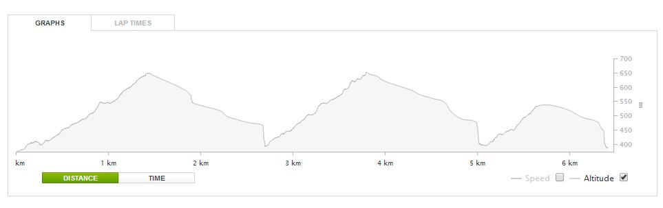 Dagens intervall(topp)tur. 3 turer og 700 hm på 1 1/2 time. Akkurat