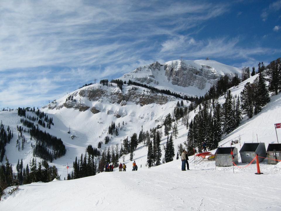 corbet's couloir starter fra høyeste punkt i skianlegget