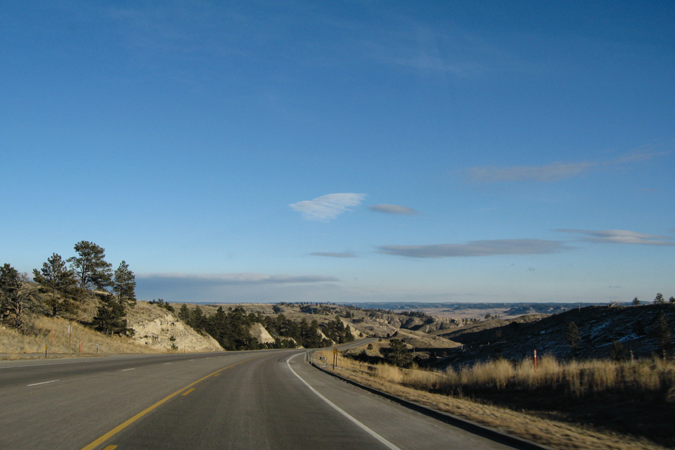 På grensa mellom Wyoming og Nebraska