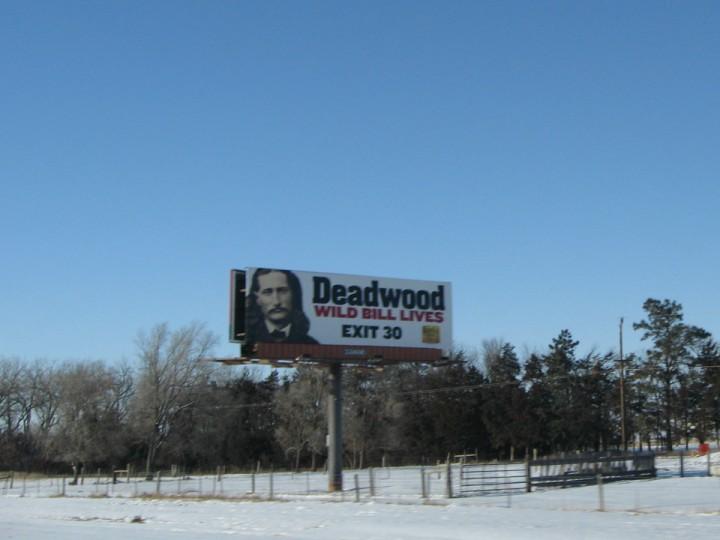 Wild Bill Hickok ble skutt og drept i Deadwood, Sør Dakota