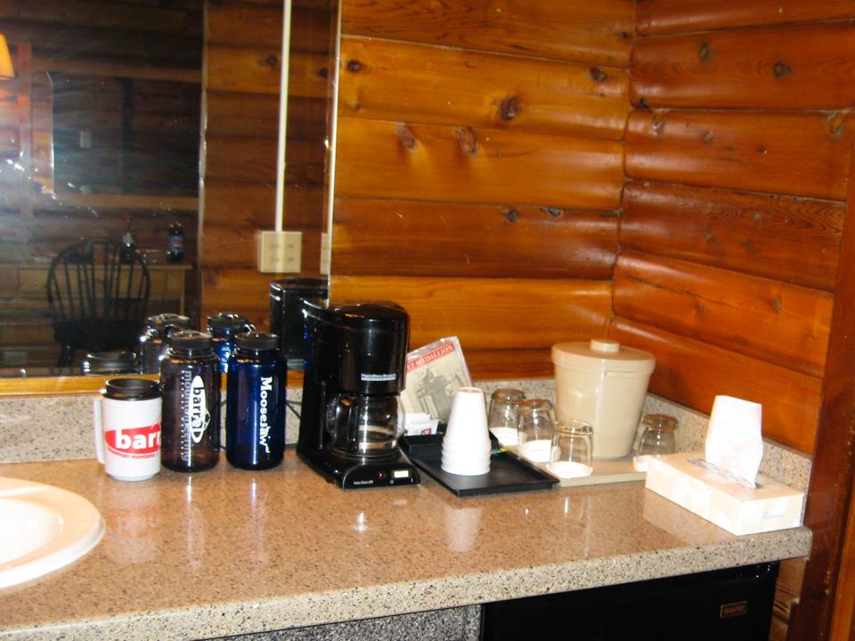 En ting jeg liker med amerikanske motell er kaffetrakter på badet.