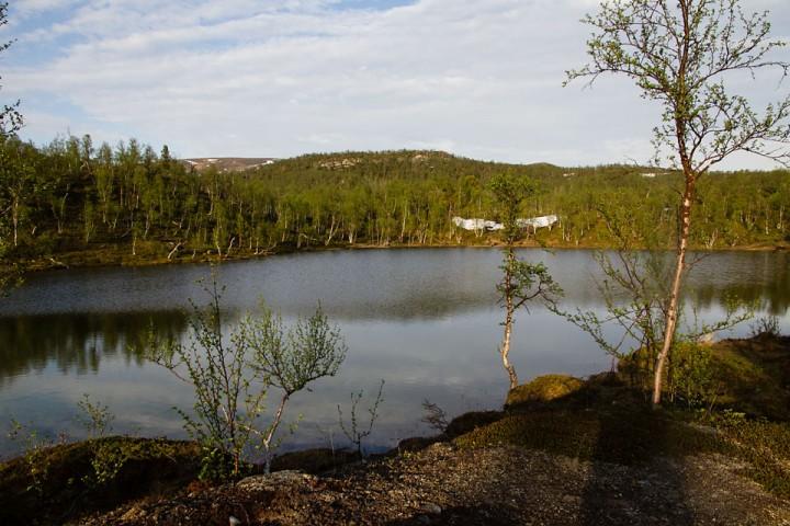 Et av mange navnløse småvann i Dødesskogen.