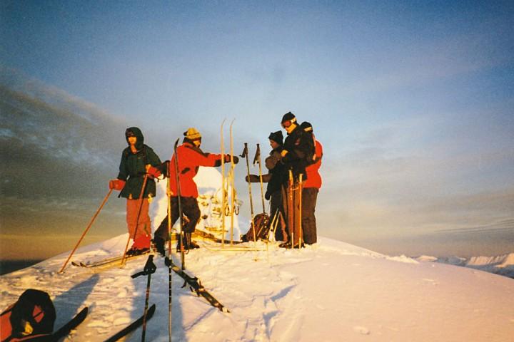 Topptur på Kvannfjellet i 1994.
