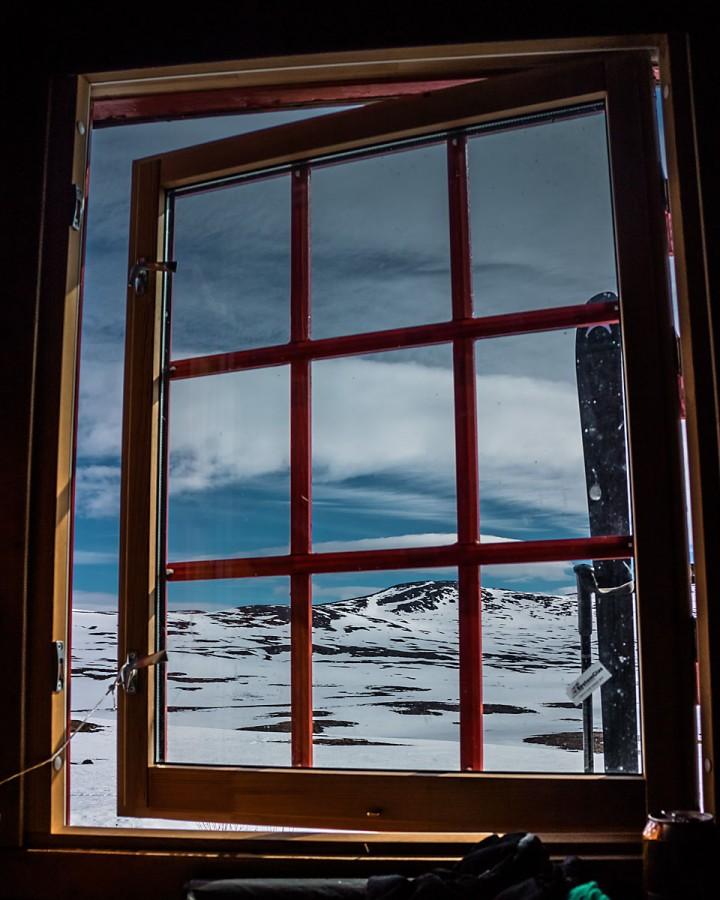 Utsikt fra soverommet.