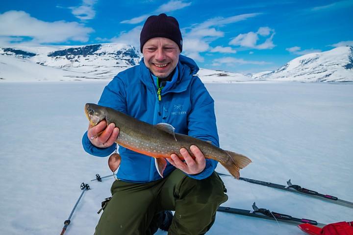 Fornøyd fisker