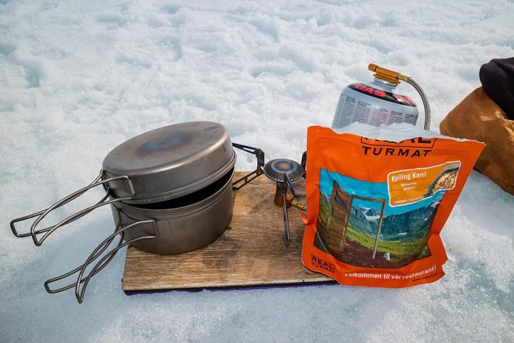 Lunsj på isen.