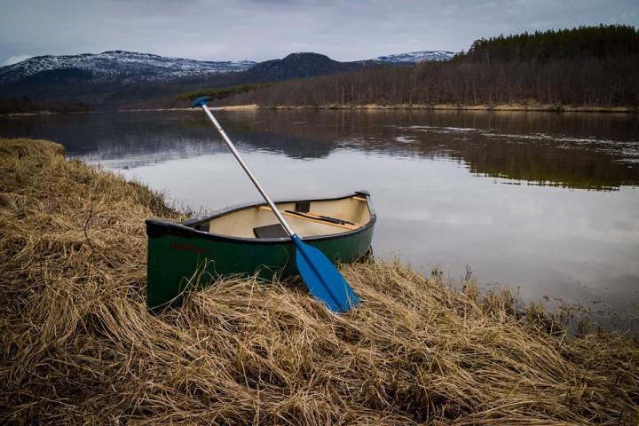 Dagens kano var en Symphony 16. En stabil og lettpadlet kano vi bruker på Haraldvollen leirskole.