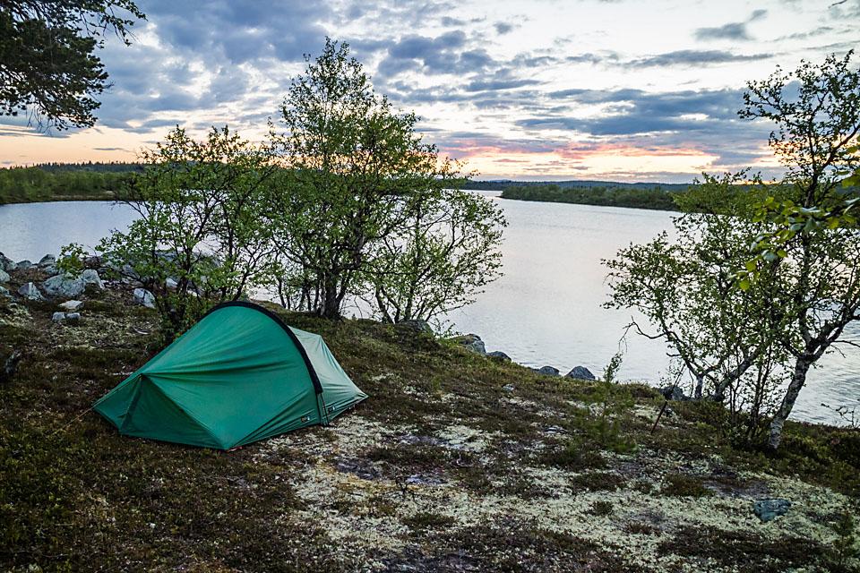 Ved Muggsjøen er det lett å finne gode teltplasser.