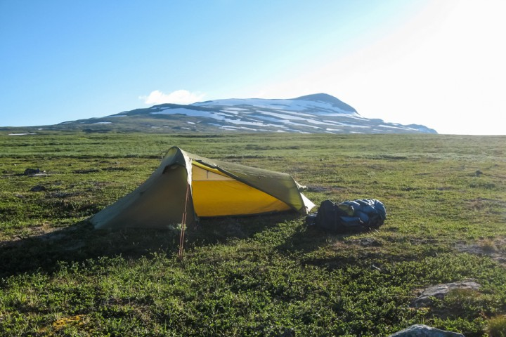 Etter Staloloukta ble teltet benyttet gjennom Padjelanta.