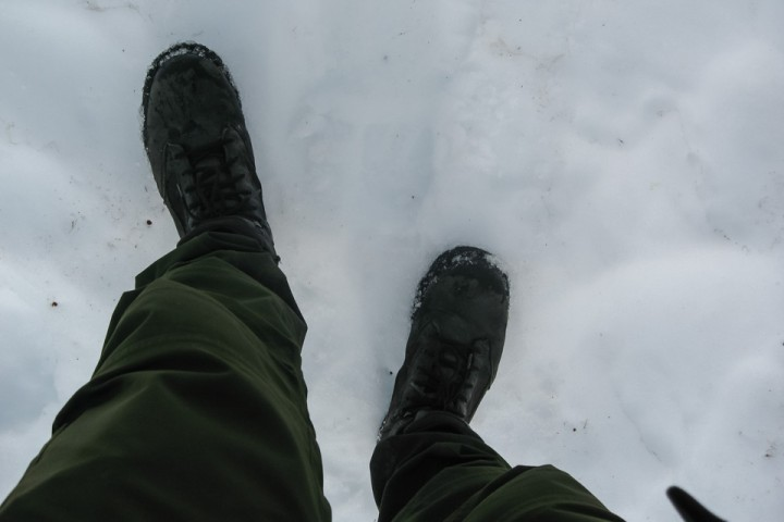 I Narvikfjellene lå det fortsatt mye snø i andre halvdel av juli.