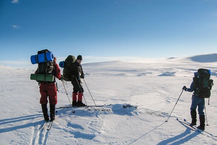 Vinterfjellet på sitt vakreste over Reineskarvet.