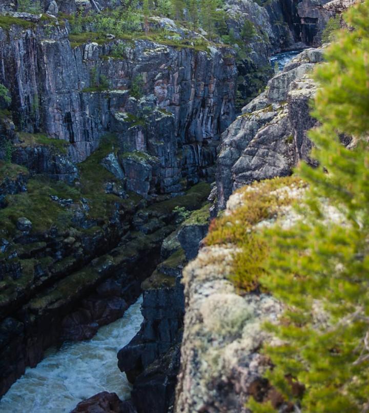 Canyon øverst i Reisadalen
