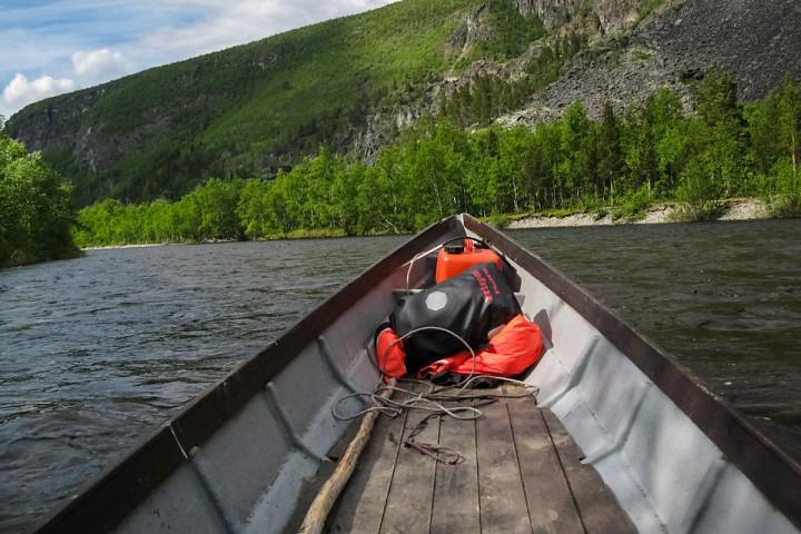 Elvebåt ned Reisaelva ble en hyggelig opplevelse.
