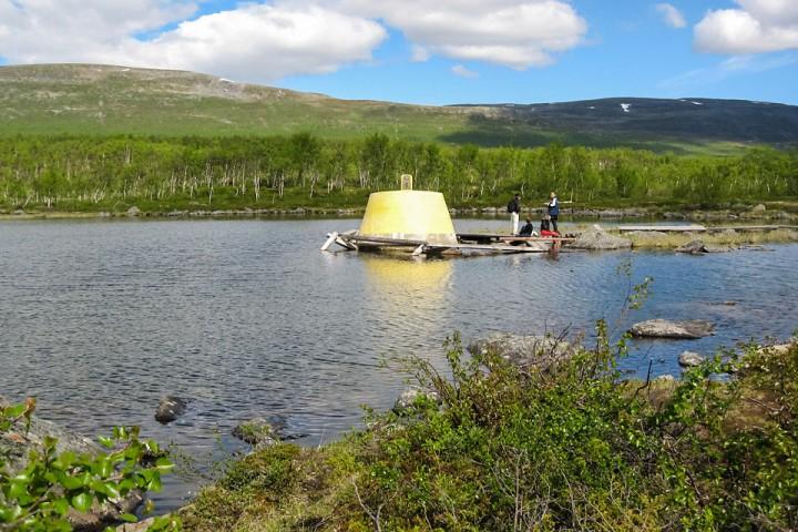 Jeg rakk en runde før de fleste turgåerne kom frem til grensa mellom Norge, Sverige og Finland.