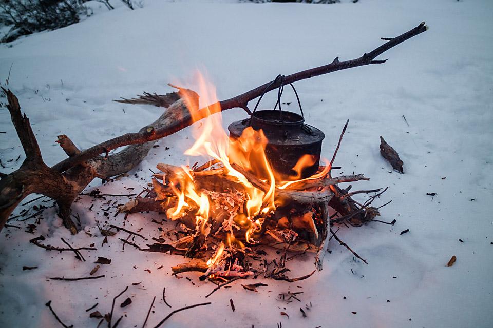 Med en snøfattig start på året ble det båltur første uka i januar.