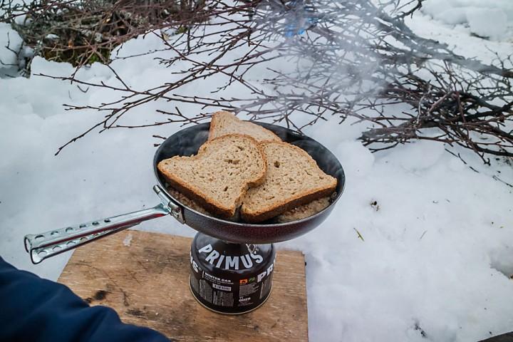 Lunsj på vintertur.