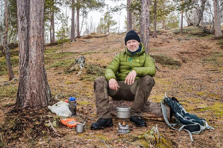 Ved Brennskogtjønna var det som forventet lett å finne en barflekk.