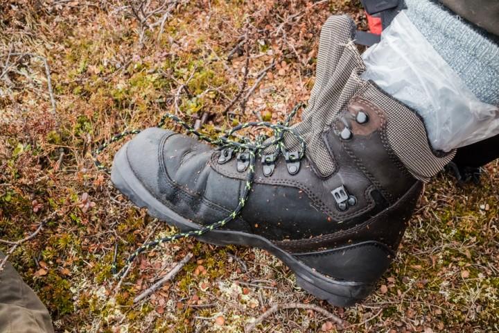 4 liters fryseposeer sørger for tørre sokker i våte sko.