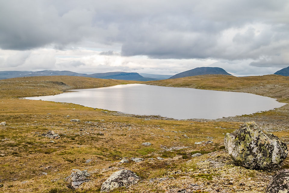 Det første navnløse vannet på turen viste ikke tegn til fisk.