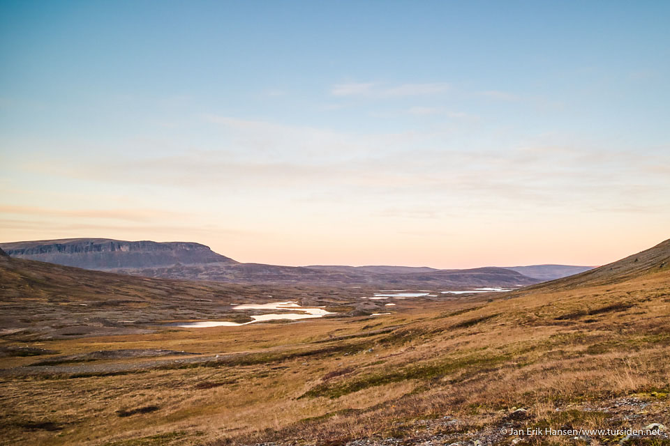 Høstkveld i Skakterdalen.