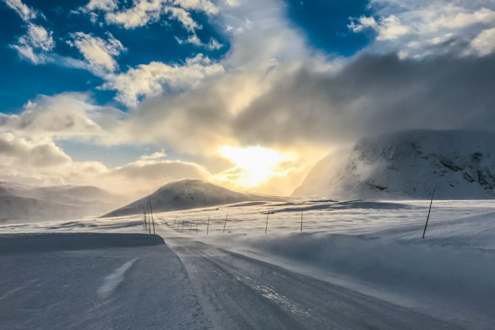 Snøfokk over Valdresflye